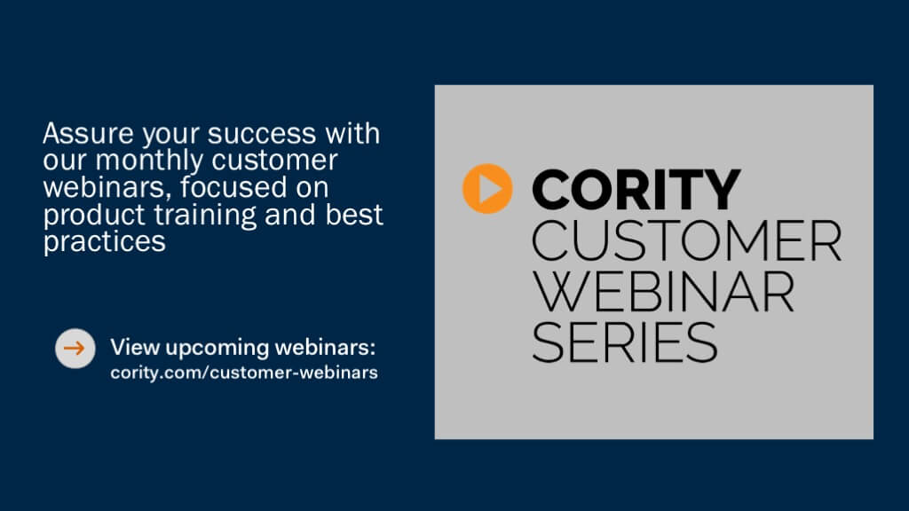 Cority Customer Webinar Series